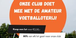Steun Rood Wit via de Amateurvoetbal Loterij